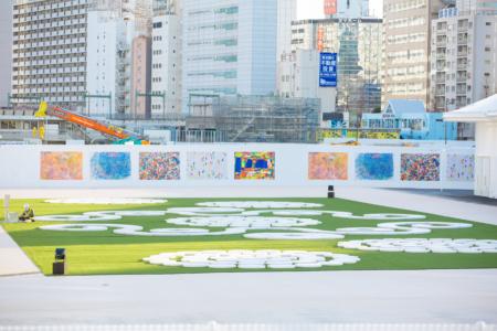 障害のある人が描くアート作品で駅を彩り、街を彩る 福祉連動型・社会貢献型実証実験 第二弾! 「仮囲いアートミュージアム in Takanawa Gateway Fest」