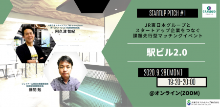 JR東日本グループとスタートアップ企業をつなぐ課題先行型マッチングイベント STARTUP PITCH#1 ~駅ビル2.0~ 開催決定!